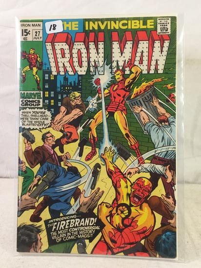 Collector Vintage Marvel Comics The Invincible IRON MAN Comic Book No.27