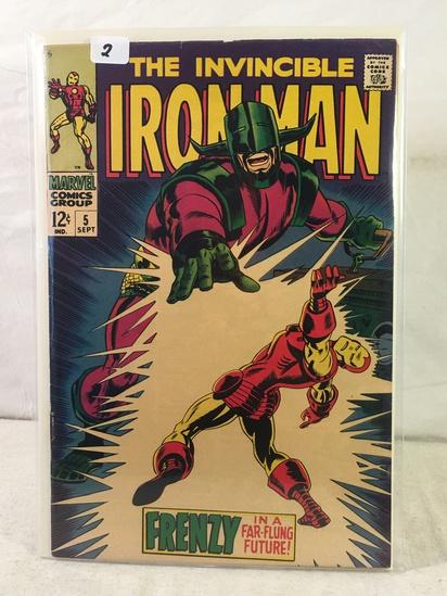 Collector Vintage Marvel Comics The Invincible IRON MAN Comic Book No.5