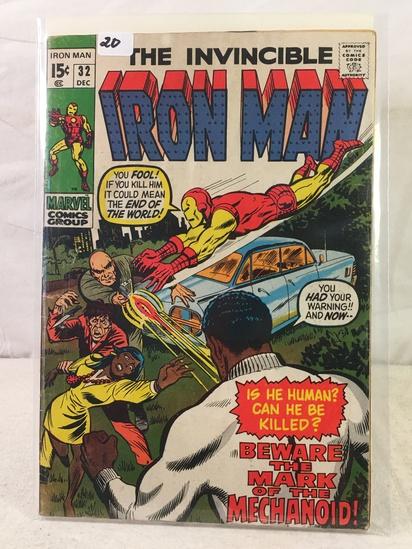 Collector Vintage Marvel Comics The Invincible IRON MAN Comic Book No.32