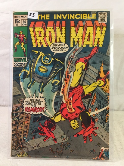 Collector Vintage Marvel Comics The Invincible IRON MAN Comic Book No.36
