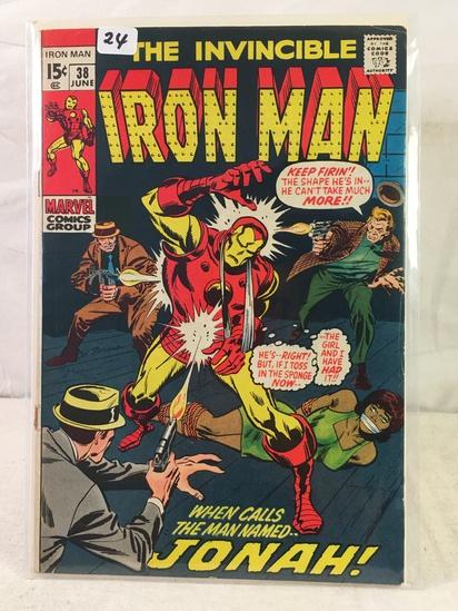 Collector Vintage Marvel Comics The Invincible IRON MAN Comic Book No.38