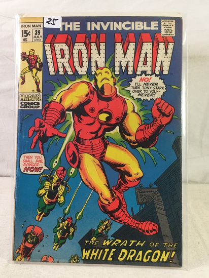 Collector Vintage Marvel Comics The Invincible IRON MAN Comic Book No.39