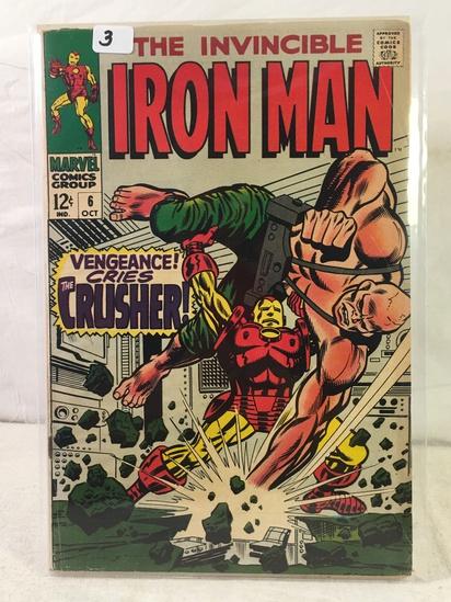 Collector Vintage Marvel Comics The Invincible IRON MAN Comic Book No.6
