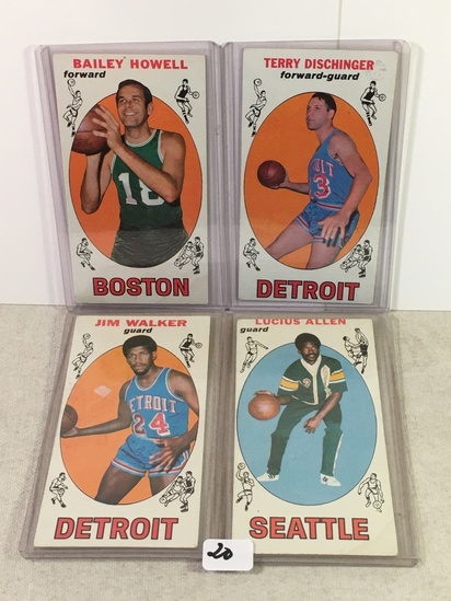 Lot of 4 Pcs Vintage Basketball Sport Trading Assorted Cards And Players - See Pictures