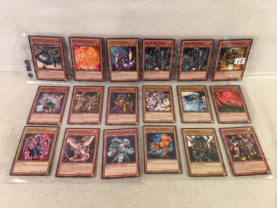 Lot of 18 Pcs Collector Assorted Yu-Gi-Oh Trading Card Game - See Pictures