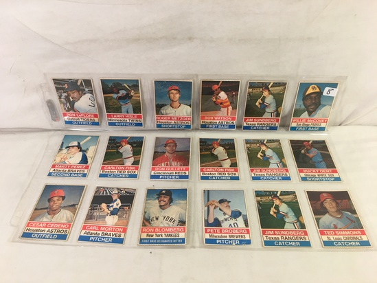Lot of 18 Pcs Collector Vintage Sport MLB Baseball Sport Trading Assorted Cards & Players