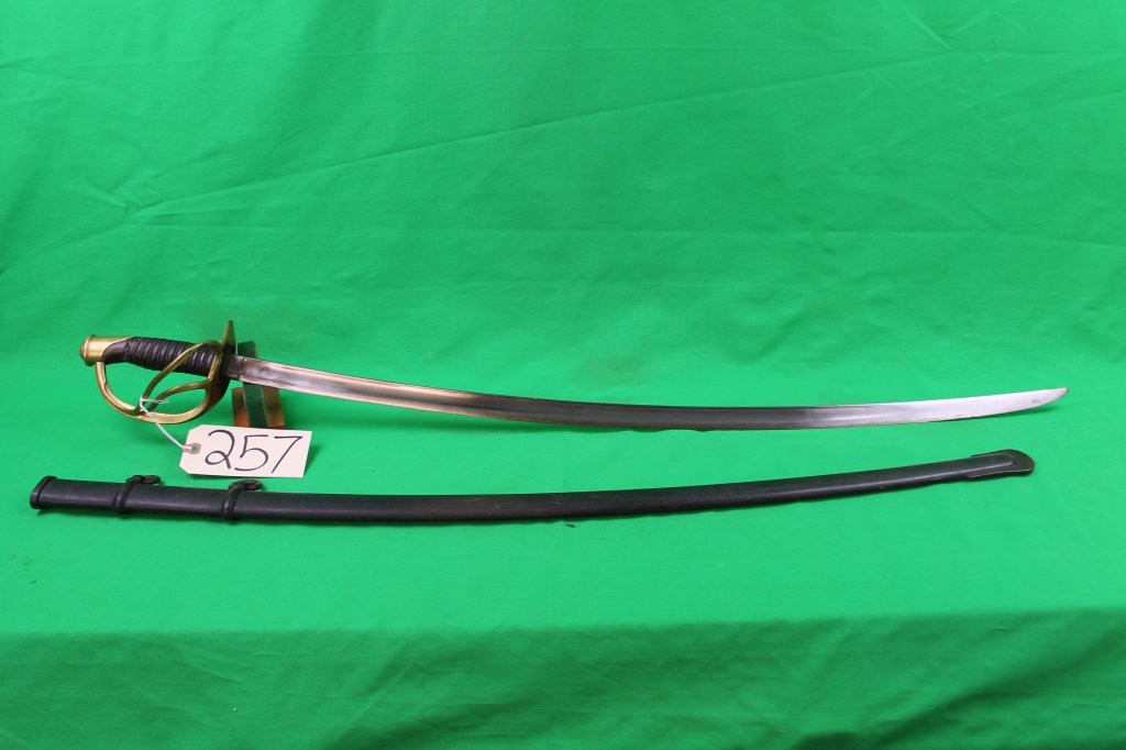 Us 1860 Calvalry Saber With Scabbard