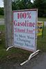 100% GASOLINE SIGN AND ETHANOL FREE GAS SIGN