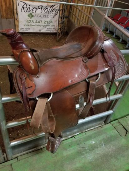 """17"""" TRIPLE C SADDLE, HAND MADE IN USA"""