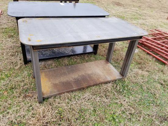 HEAVY DUTY 30 X 57 STEEL WORK TABLE