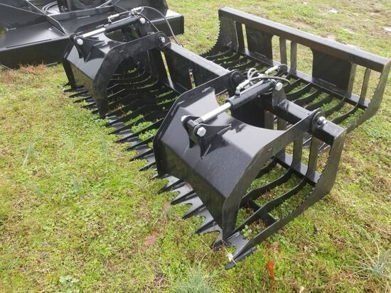 """84"""" UNUSED QUICK ATTACH DOUBLE CYLINDER GRAPPLE BUCKET"""