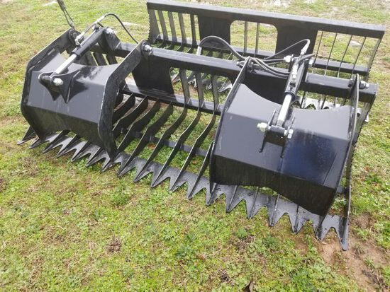 """78"""" UNUSED QUICK ATTACH DOUBLE CYLINDER GRAPPLE BUCKET"""