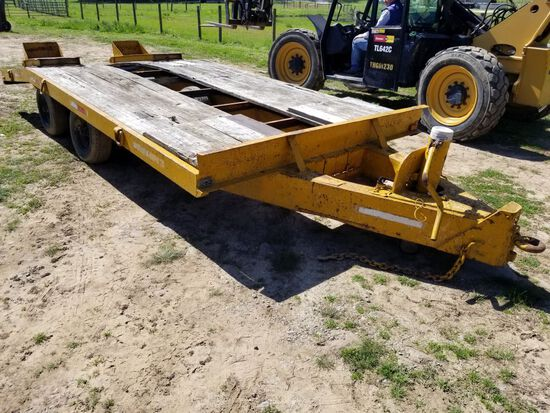 12' W/ 4' DOVE PINTLE HITCH TRAILER,8' WIDE, M:12STD, NO TITLE, WITH RAMPS,