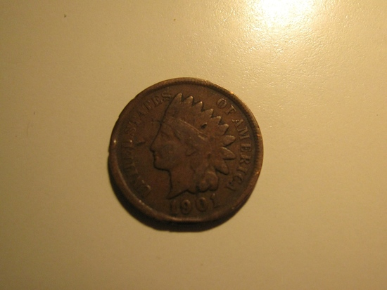 US Coins: 1901 Indian Head