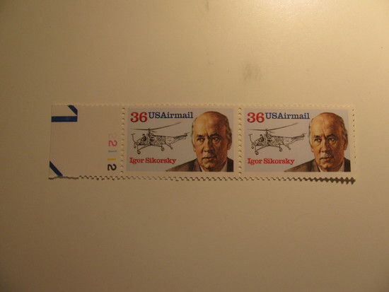 2 Vintage Unused Mint U.S. Stamps
