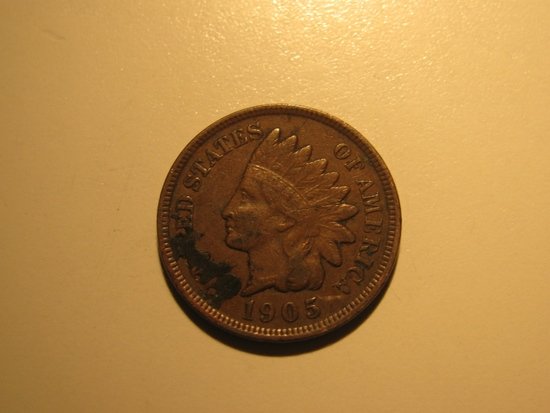US Coins: 1905 Indian Head