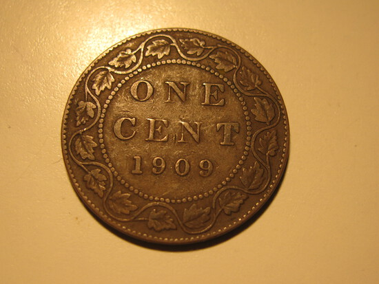 Foreign Coins: 1909 Canada 1 Cent