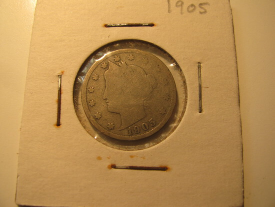 US Coins: 1905 Liberty V 5 cents