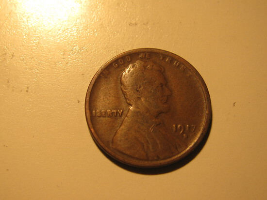 US Coins: 1x1917-D Wheat penny