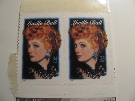 2 Vintage Unused Mint U.S. Stamps