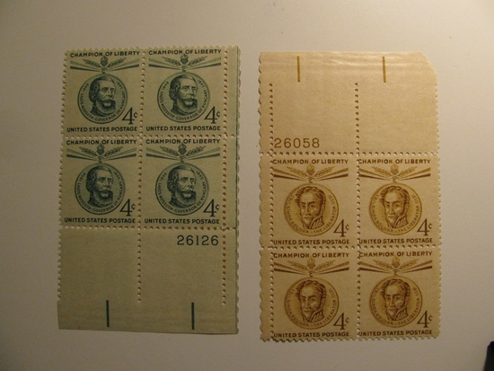 8 Vintage Unused Mint U.S. Stamps