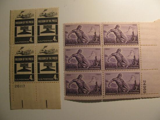 10 Vintage Unused Mint U.S. Stamps