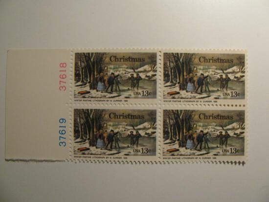 4 Vintage Unused Mint U.S. Stamps
