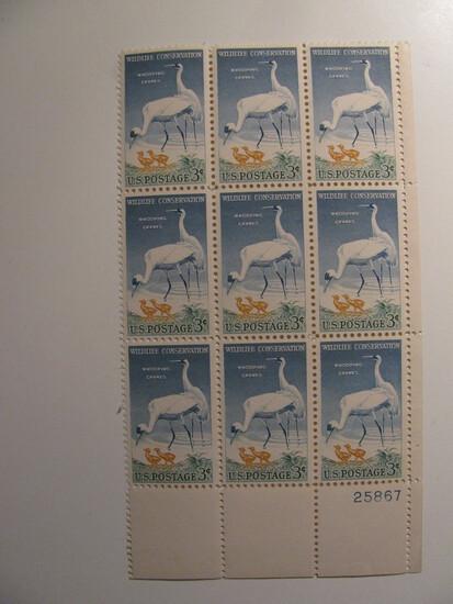 9 Vintage Unused Mint U.S. Stamps
