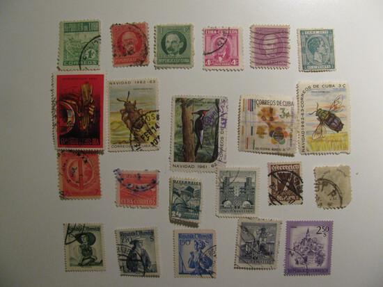 Vintage stamps set of: Austria & Cuba