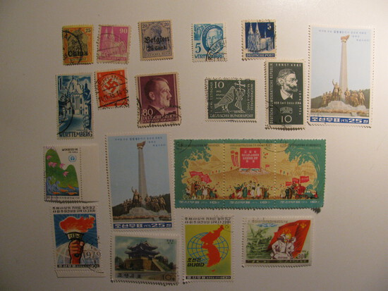 Vintage stamps set of: Germany & N. Korea