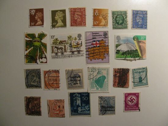 Vintage stamps set of: Germany & Great Britain