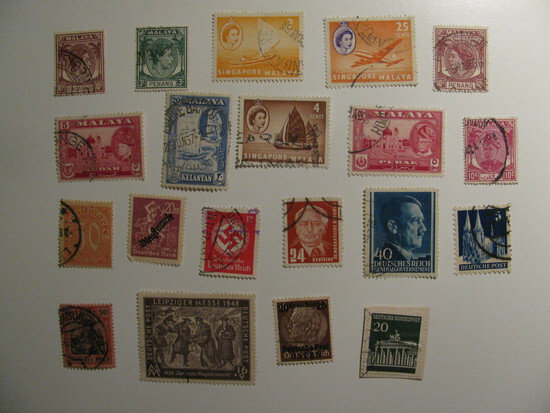 Vintage stamps set of: Germany &Malaya