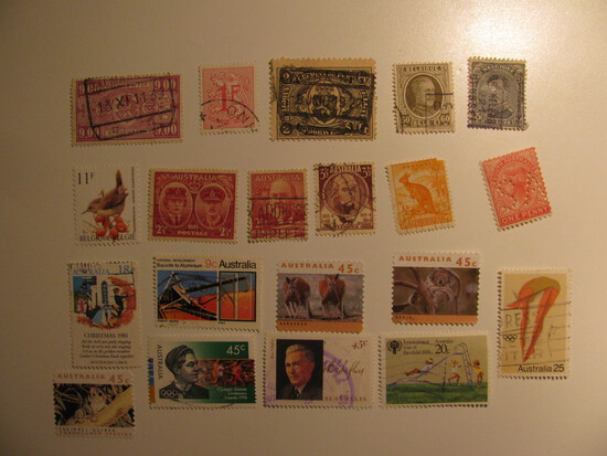 Vintage stamps set of: Belgium & Australia