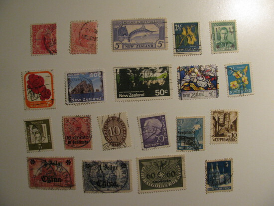 Vintage stamps set of: Germany & New Zealand