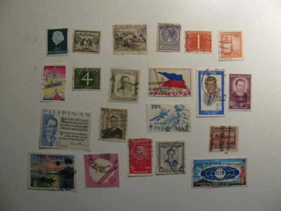 Vintage stamps set of: Netherlands & Philippnes