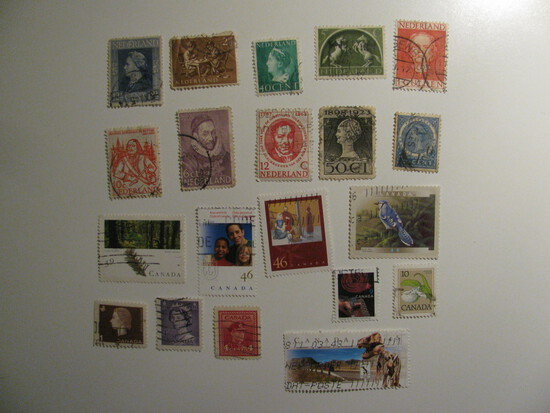 Vintage stamps set of: Netherlands & Canada