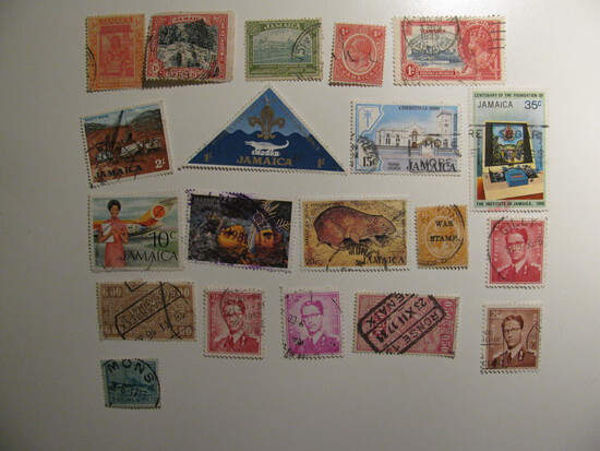 Vintage stamps set of: Belgium,Saar & African Countries