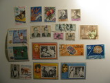 Vintage stamps set of: San Marino, Turkey, Dubai, Ajman & Fujeira