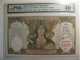 Graded Currency; 1963- 1965 Tahiti Bank of Indochina
