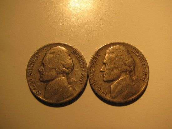 US Coins: 1941 & 1947 5 cents