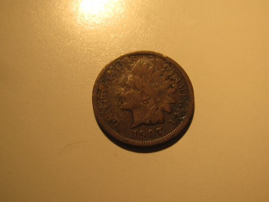 US Coins: 1907 Indian Head