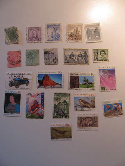 Vintage stamps set of: Austrai & Australia