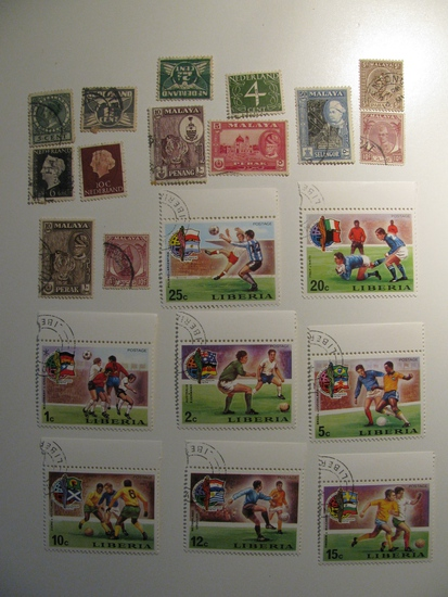Vintage stamps set of: Malaya, Liberia & Netherlands
