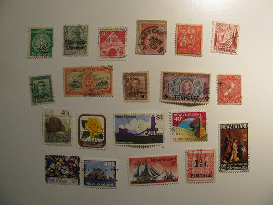 Vintage stamps set of: New Zealand & Germany