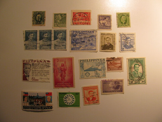 Vintage stamps set of: Sweden & Philippines