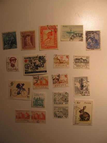 Vintage stamps set of: Peru & Poland