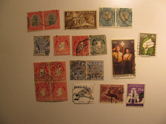 Vintage stamps set of: Irealnd & South Africa