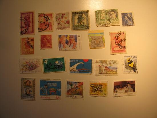 Vintage stamps set of: Belgium Cong & Australia