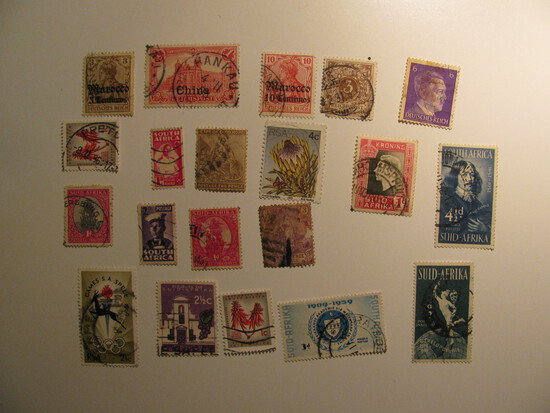 Vintage stamps set of: Germany & South Africa