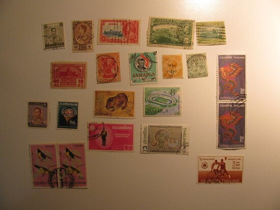 Vintage stamps set of: Thailand & Jamaica